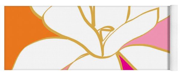 Magnolia 4- Colorful Flower Art Yoga Mat