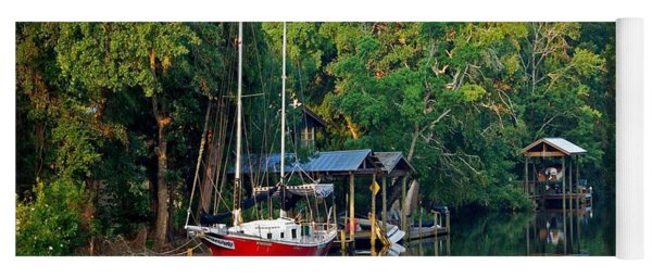 Magnolia Red Boat Yoga Mat