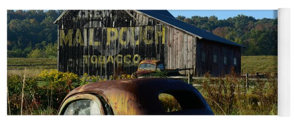 Mail Pouch Barn And Old Cars Yoga Mat