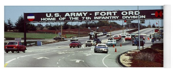 Main Gate 7th Inf. Div Fort Ord Army Base Monterey Calif. 1984 Pat Hathaway Photo Yoga Mat