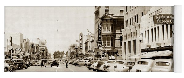 Main Street Salinas California 1941 Yoga Mat