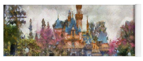 Main Street Sleeping Beauty Castle Disneyland Photo Art 02 Yoga Mat