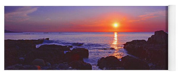 Maine Coast Sunrise Yoga Mat