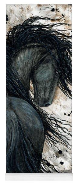 Majestic Friesian Horse 123 Yoga Mat