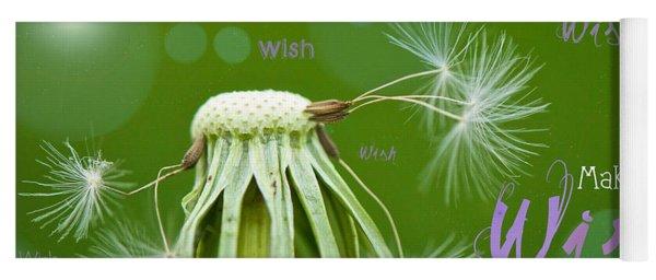 Make A Wish Card Yoga Mat