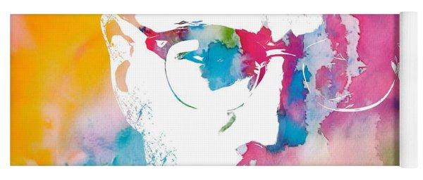 Malcolm X Watercolor Yoga Mat