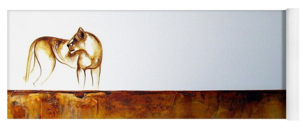 Lioness - Original Artwork Yoga Mat
