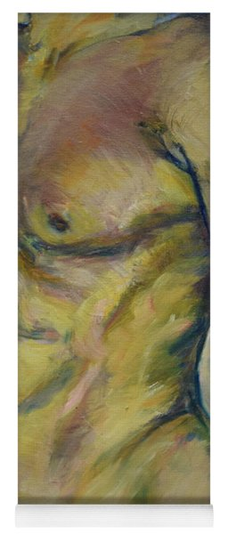 Nude Male Torso Yoga Mat
