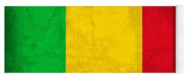 Mali Flag Vintage Distressed Finish Yoga Mat