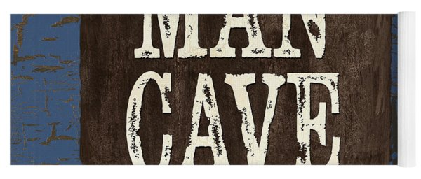 Man Cave Enter At Your Own Risk Yoga Mat