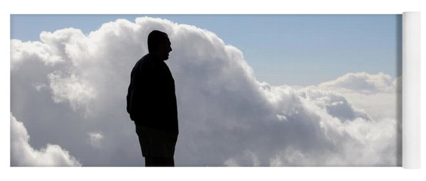 Man In The Clouds Yoga Mat