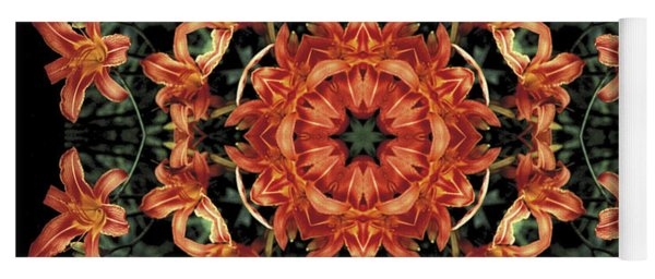 Mandala Daylily Yoga Mat