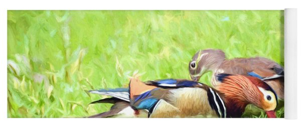 Mandarin Duck Couple Yoga Mat