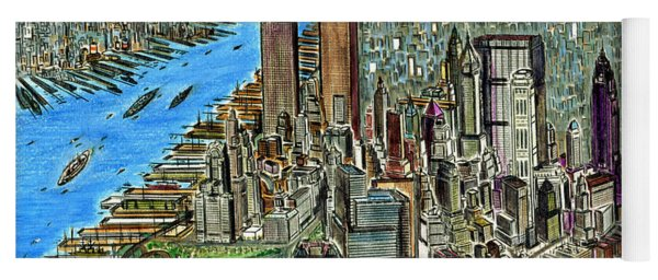 New York Downtown Manhattan 1972 Yoga Mat