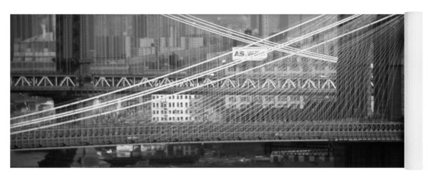 Manhattan And Brooklyn Bridge's Yoga Mat