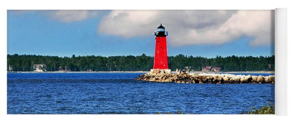 Manistique Lighthouse Yoga Mat