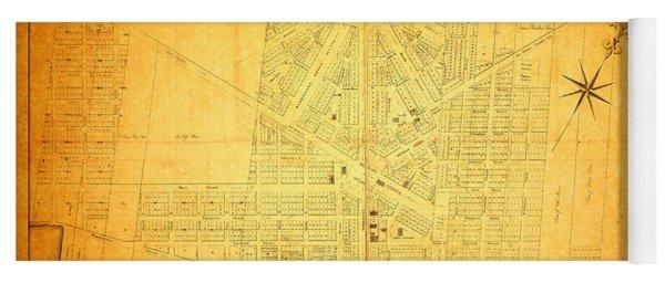 Map Of Detroit Michigan C 1835 Yoga Mat