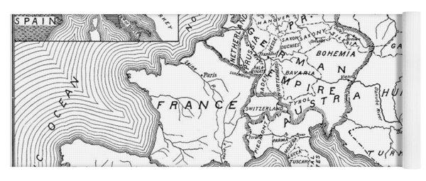 Map Of Europe, 1812-1815 Yoga Mat