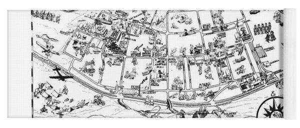 Map Of Fort Ord Army Base Monterey California Circa 1950 Yoga Mat