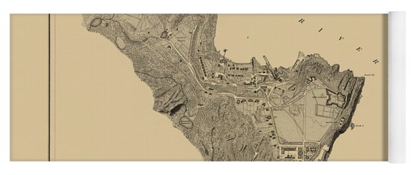 Map Of West Point 1883 Yoga Mat