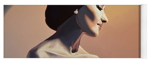 Maria Callas Painting Yoga Mat
