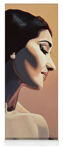 Maria Callas Painting Yoga Mat
