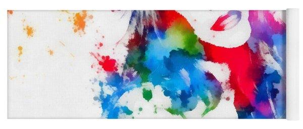 Mariah Carey Watercolor Paint Splatter Yoga Mat