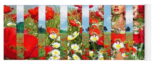 Marilyn In Poppies 1 Yoga Mat