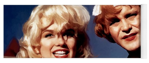 Marilyn Monroe And Jack Lemon Portrait Yoga Mat