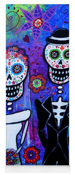 Married Couple Dia De Los Muertos Yoga Mat
