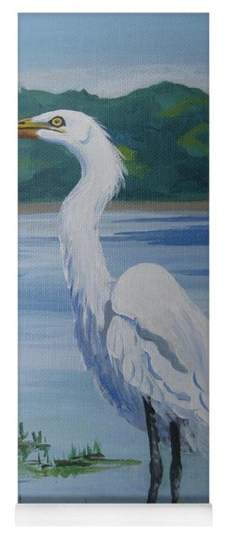 Marsh Land Egret Yoga Mat