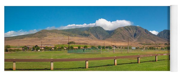 Maui Hawaii Mountains Near Kaanapali   Yoga Mat