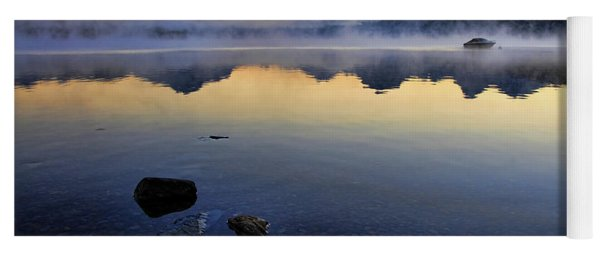 Yoga Mat featuring the photograph Mcdonald Lake Sunrise by Gary Beeler