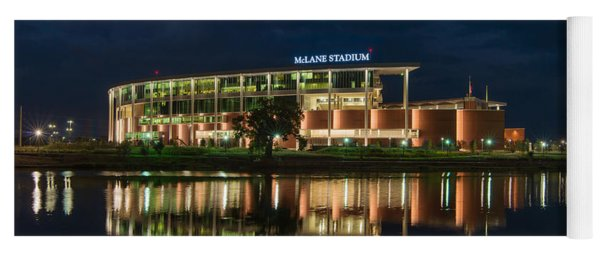 Yoga Mat featuring the photograph Mclane Stadium At Night by Todd Aaron