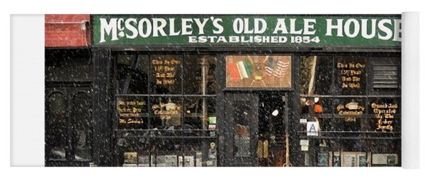 Mcsorley's Old Ale House During A Snow Storm Yoga Mat