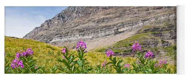 Meadow Of Fireweed Below The Continental Divide Yoga Mat