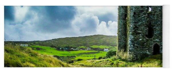 Medieval Dunmanus Castle On Ireland's Mizen Peninsula Yoga Mat