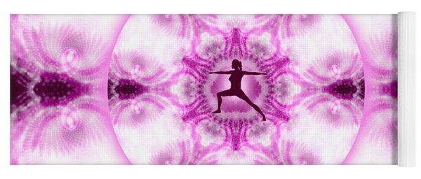 Yoga Mat featuring the digital art Meditation Galaxy 4 by Derek Gedney