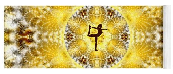 Yoga Mat featuring the digital art Meditation Galaxy 8 by Derek Gedney