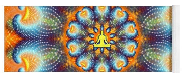 Yoga Mat featuring the digital art Meditation Galaxy 9 by Derek Gedney