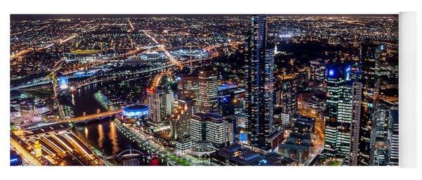 Melbourne At Night IIi Yoga Mat
