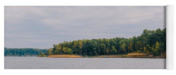 Men Fishing On Barren River Lake Yoga Mat