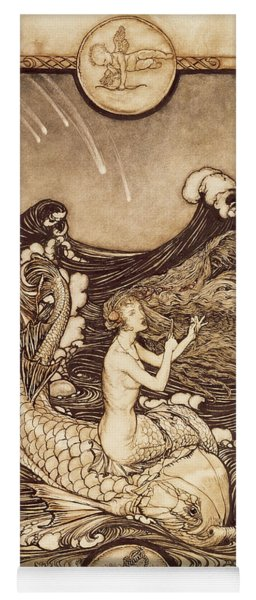 Mermaid And Dolphin From A Midsummer Nights Dream Yoga Mat