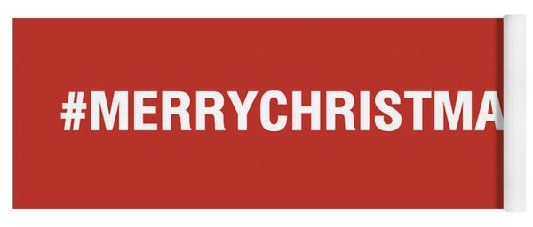 Merry Christmas Hashtag Yoga Mat