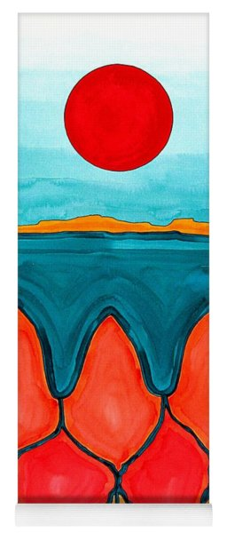 Mesa Canyon Rio Original Painting Yoga Mat
