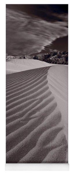 Mesquite Dunes Death Valley B W Yoga Mat