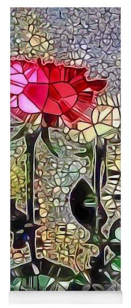 Metalic Rose Yoga Mat