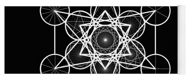 Metatron Wheel Cube Yoga Mat