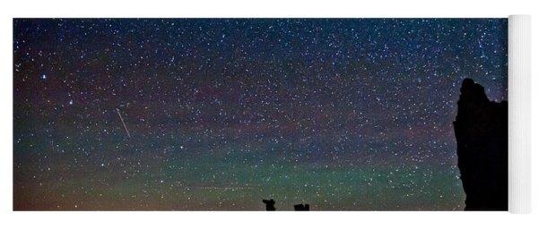 Meteors Over Mono Lake Yoga Mat
