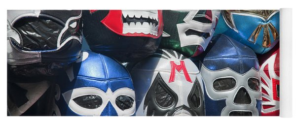 Mexican Head Masks Yoga Mat
